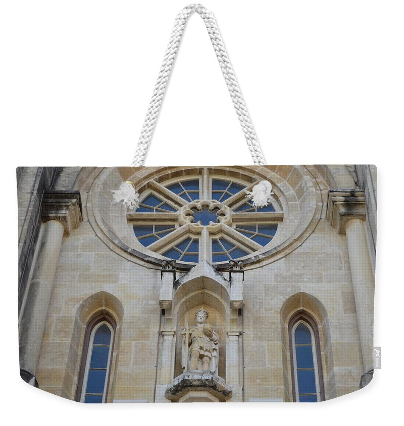 Architecture Weekender Tote Bag featuring the photograph San Antonio Church 03 by Shawn Marlow