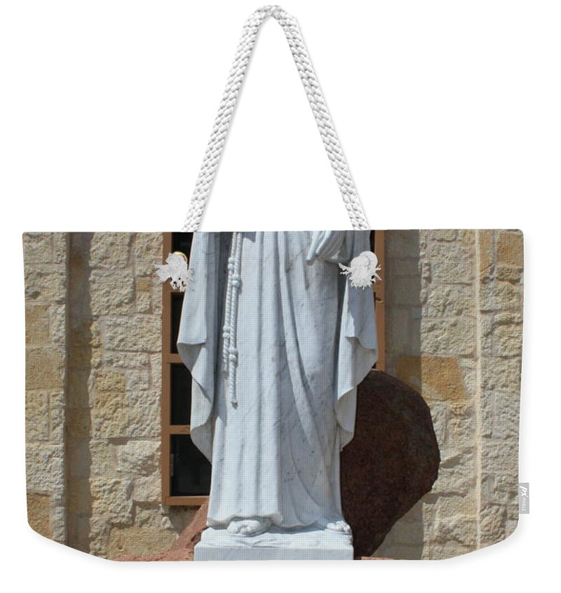 San Antonio Weekender Tote Bag featuring the photograph San Antonio Statue by Carol Groenen