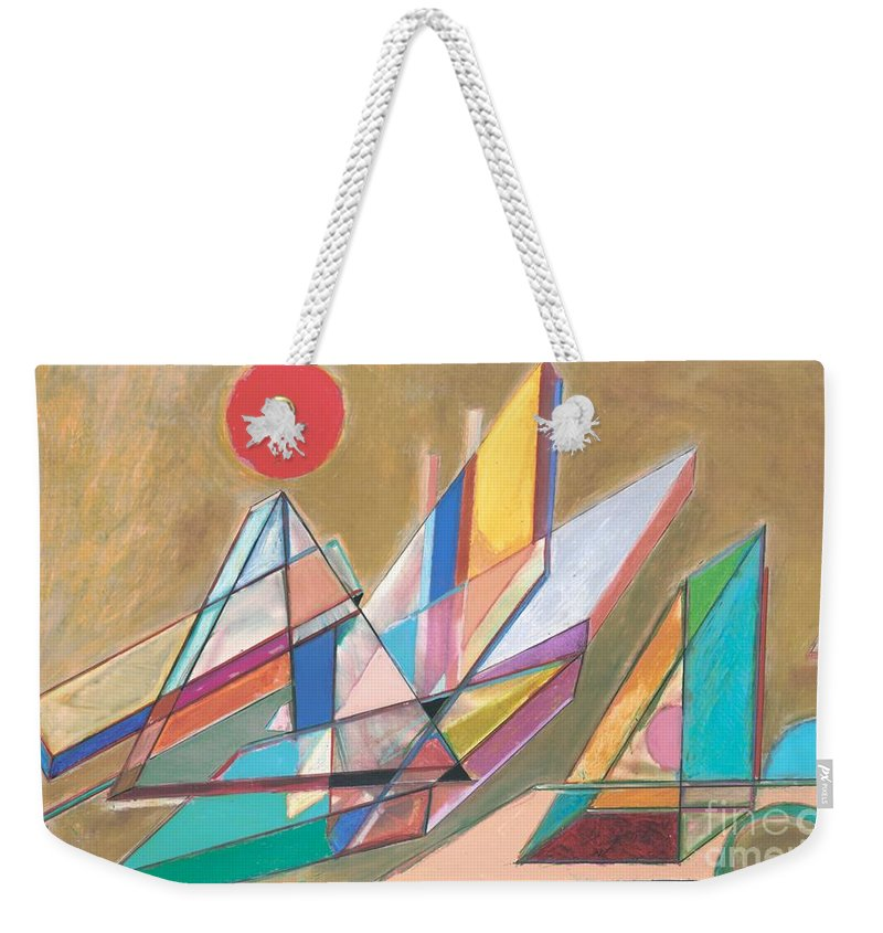 Landscape Weekender Tote Bag featuring the painting San Francisco 15 by Allan P Friedlander