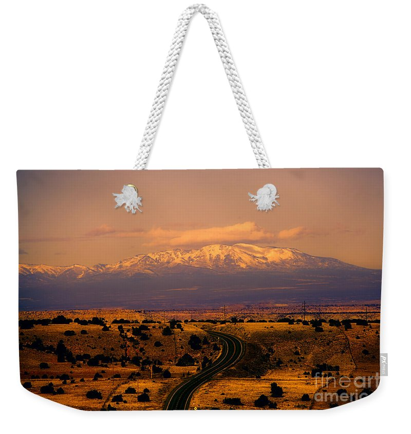 San Francisco Peaks Weekender Tote Bag featuring the photograph San Francisco Peaks by Douglas Barnard