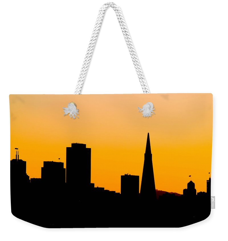San Francisco Weekender Tote Bag featuring the photograph San Francisco Silhouette by Bill Gallagher