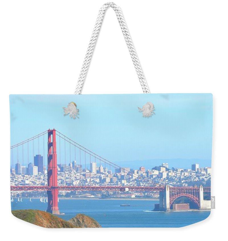 Golden Gate Bridge Weekender Tote Bag featuring the photograph San Fransisco by Christina McKinney