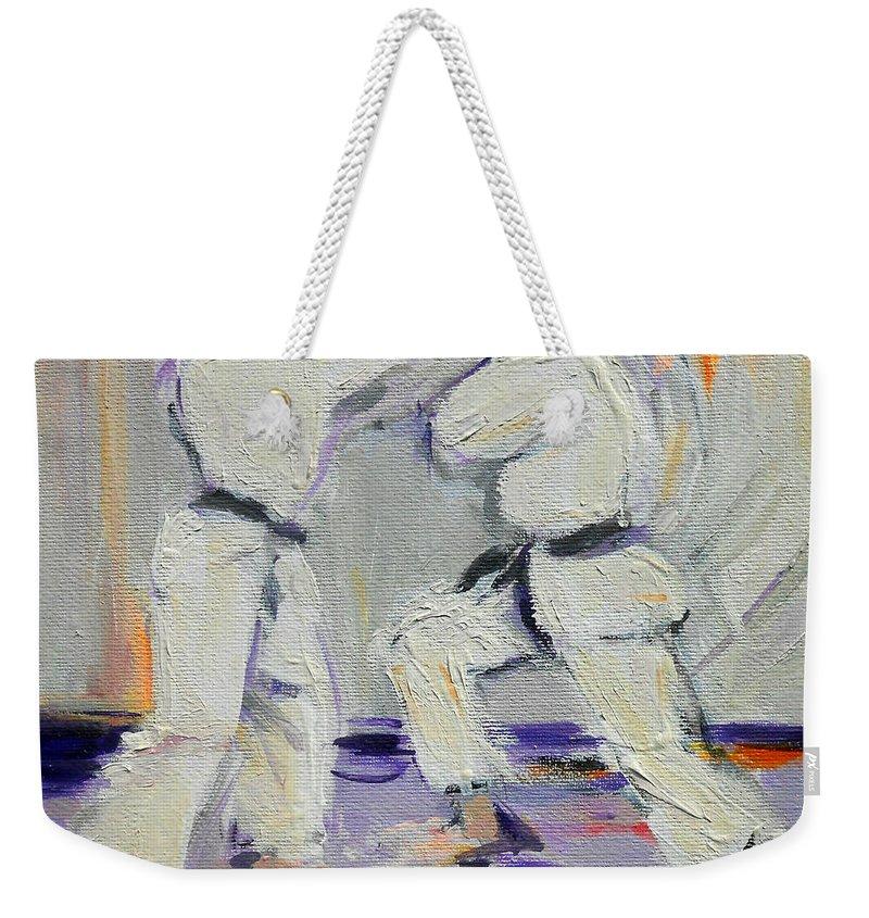 San Weekender Tote Bag featuring the painting San by Lucia Hoogervorst