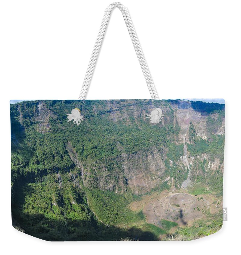 El Salvador Weekender Tote Bag featuring the photograph San Salvador Volcano by Steven Ralser