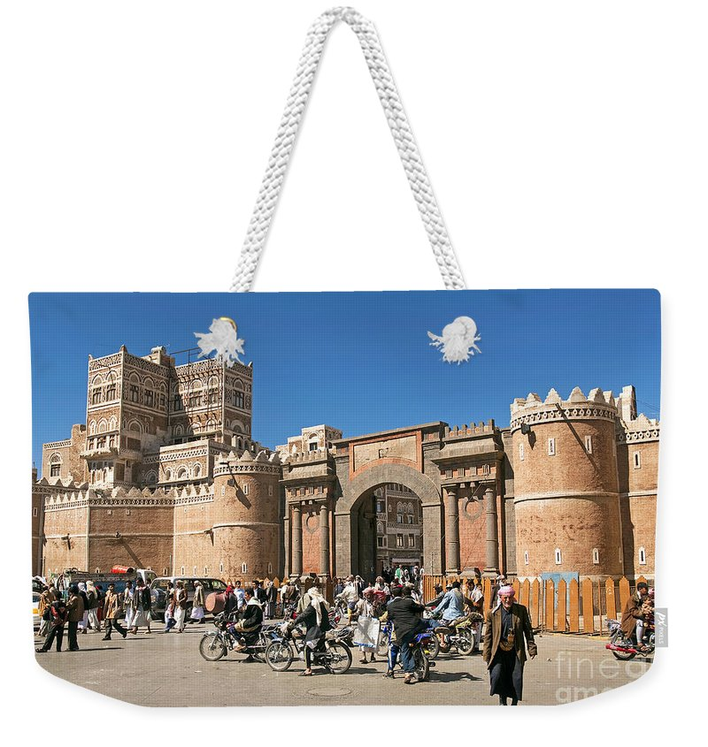 Architecture Weekender Tote Bag featuring the photograph Sanaa City In Yemen by Jacek Malipan
