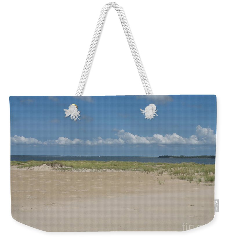 Sea Weekender Tote Bag featuring the photograph Sand And Ocean Of Assateague Island National Seashore by Christiane Schulze Art And Photography