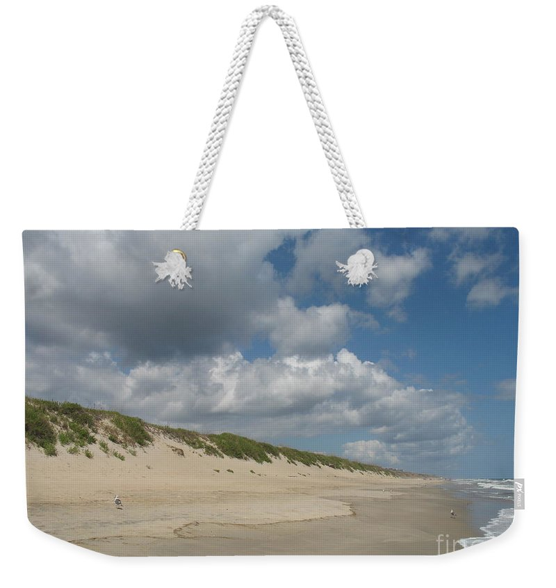 Beach Weekender Tote Bag featuring the photograph Sand And Sea by Christiane Schulze Art And Photography
