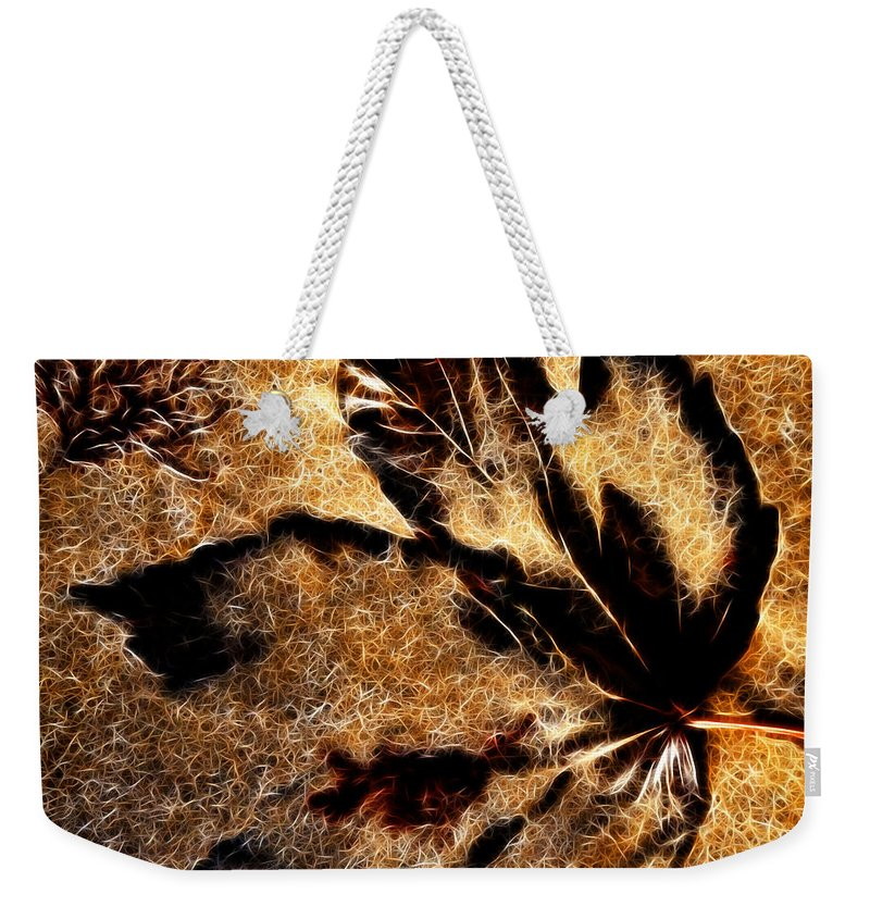Lyme Regis Weekender Tote Bag featuring the photograph Sand Art With Pizzazz by Susie Peek