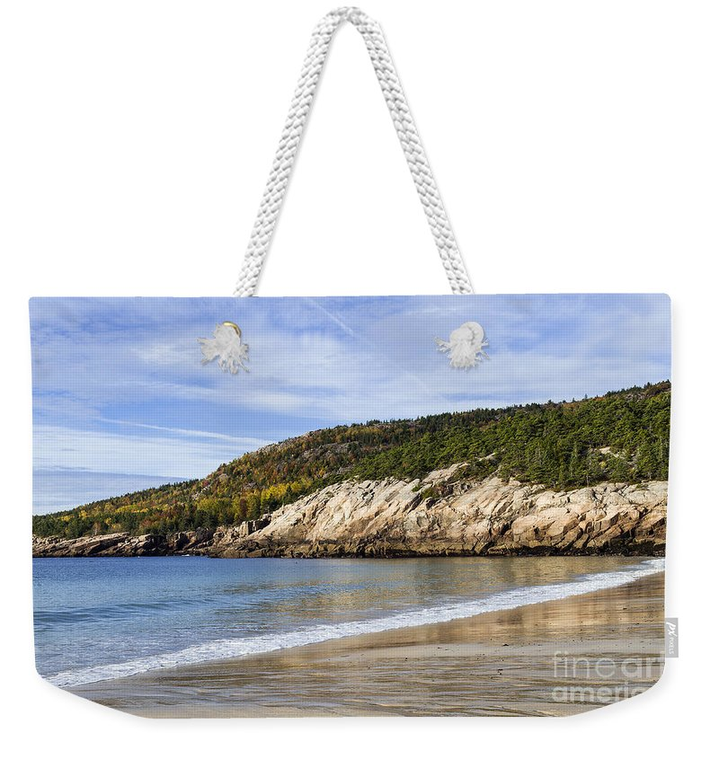 Acadia Weekender Tote Bag featuring the photograph Sand Beach Acadia by John Greim