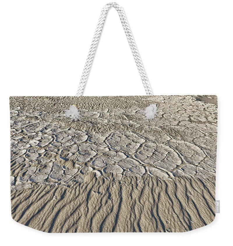 Death Valley Weekender Tote Bag featuring the photograph Sand Dunes Like Fine Cloth by Angela Stanton