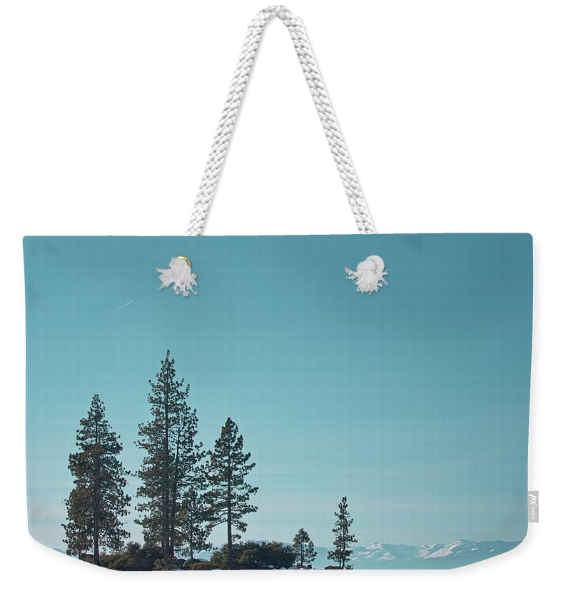 Landscape Weekender Tote Bag featuring the photograph Sand Harbor-lake Tahoe by Kim Hojnacki