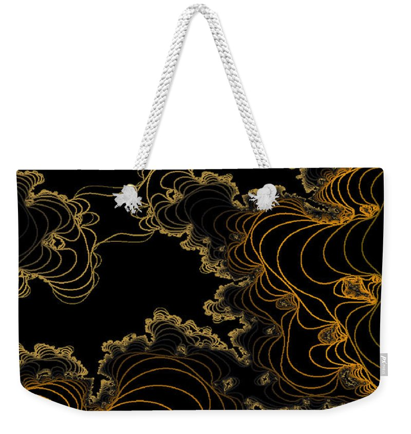Owlspook Weekender Tote Bag featuring the digital art Sand Seafoam And Sky by Owlspook