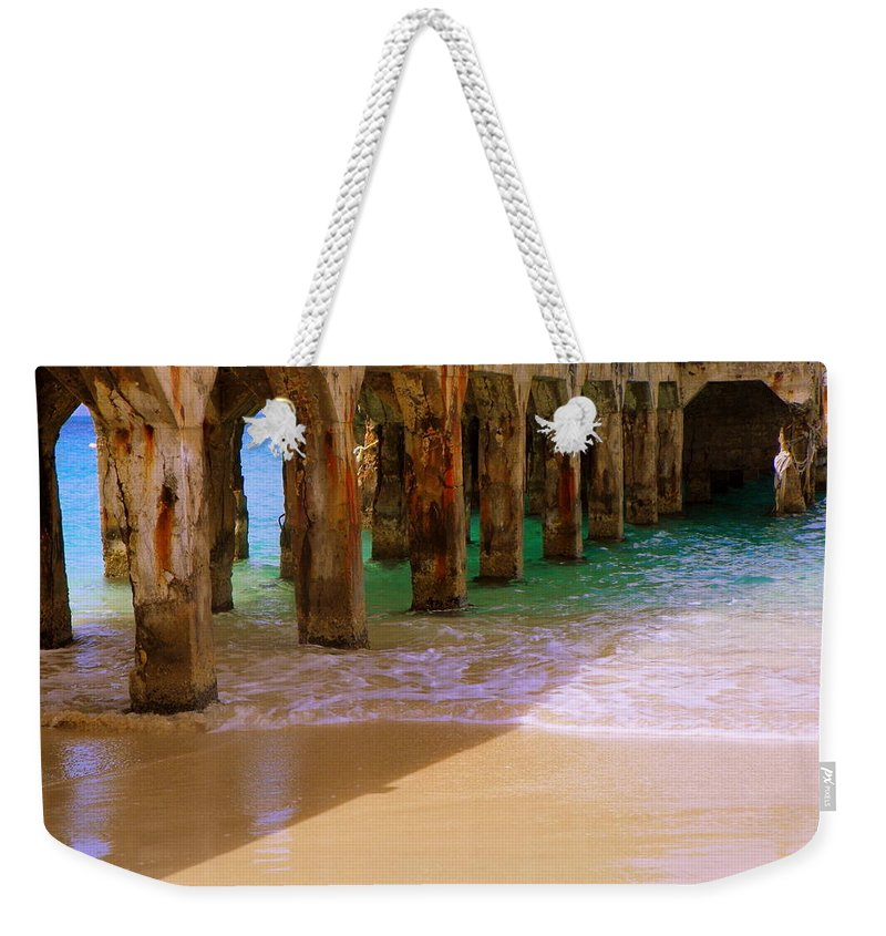 Beaches Weekender Tote Bag featuring the photograph Sands Of Time by Karen Wiles