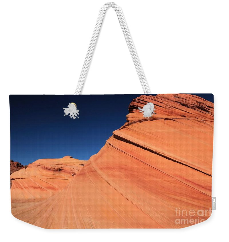 The Wave Weekender Tote Bag featuring the photograph Sandstone Bands by Adam Jewell