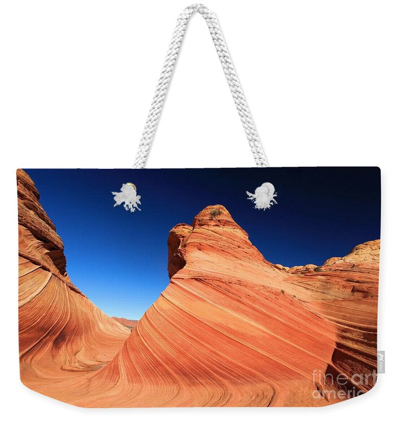 The Wave Weekender Tote Bag featuring the photograph Sandstone Bulge by Adam Jewell