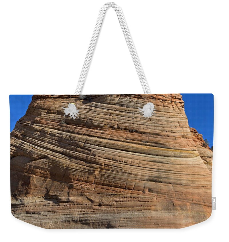 Zion Weekender Tote Bag featuring the photograph Sandstone Rock Formation Zion National Park Utah by Jason O Watson