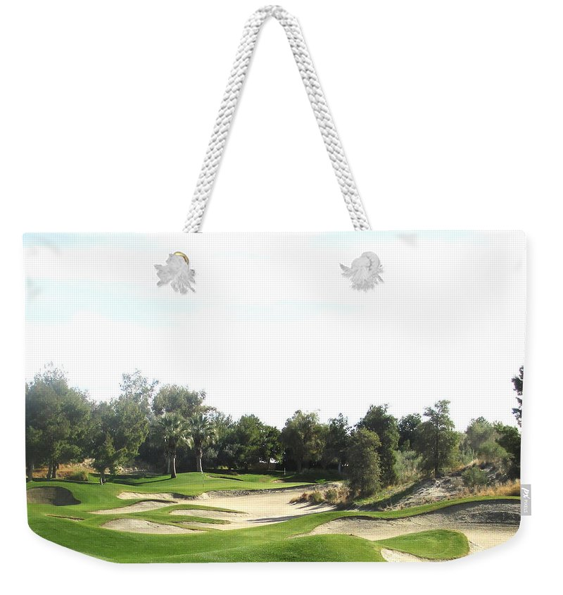 Sandy Approach Weekender Tote Bag featuring the digital art Sandy Approach At Shadow Ridge by Barbara Snyder