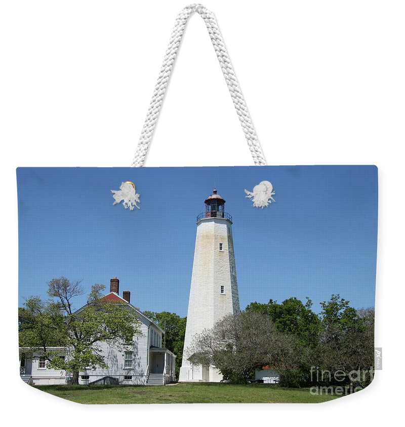 Lighthouse Weekender Tote Bag featuring the photograph Sandy Hook Lighthouse IIi - N J by Christiane Schulze Art And Photography