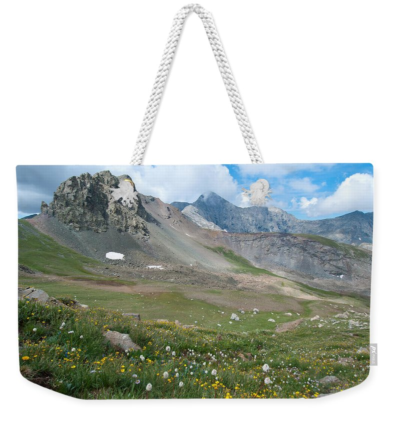 Landscape Photography Weekender Tote Bag featuring the photograph Sangre De Cristos Meadow And Mountains by Cascade Colors