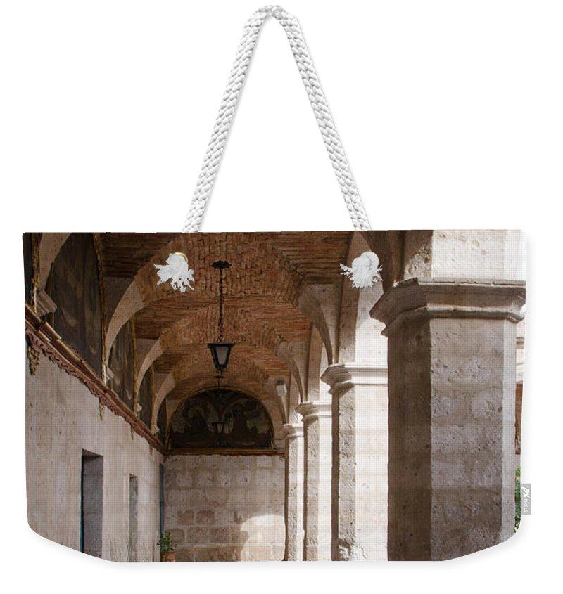 Santa Catalina Weekender Tote Bag featuring the photograph Santa Catalina Monastery In Arequipa Peru by Ralf Broskvar