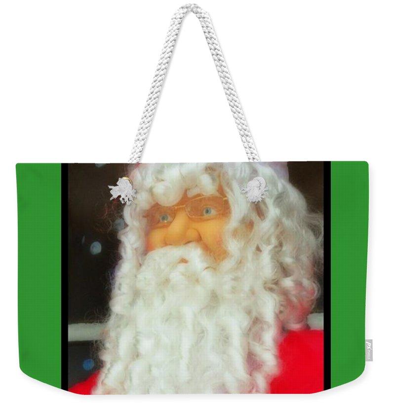 Santa Christmas Card Weekender Tote Bag featuring the photograph Santa Christmas Card by John Malone