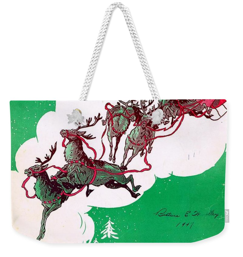Nostalgia Weekender Tote Bag featuring the photograph Santa Claus Is Comin To Town by Mel Thompson