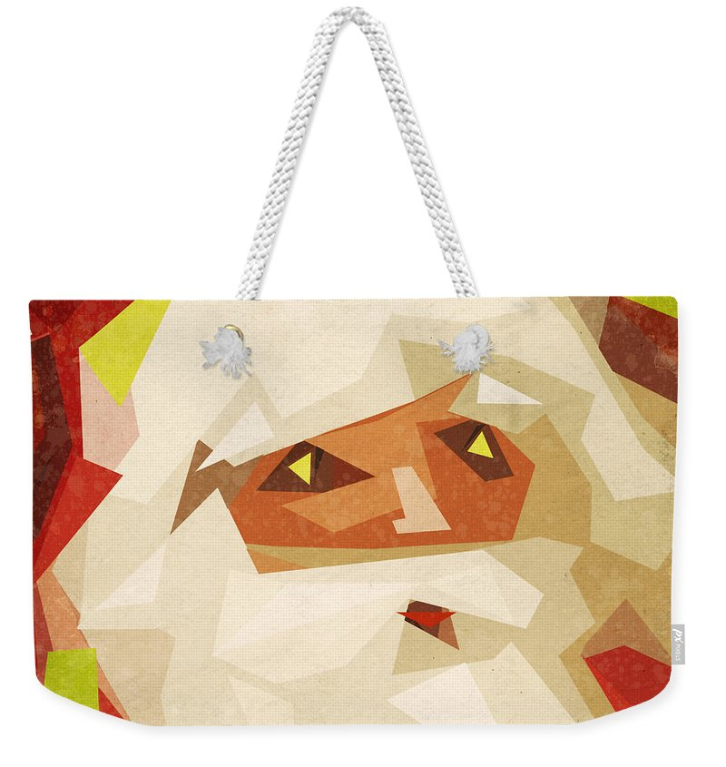 Abstract Weekender Tote Bag featuring the painting Santa Claus by Setsiri Silapasuwanchai