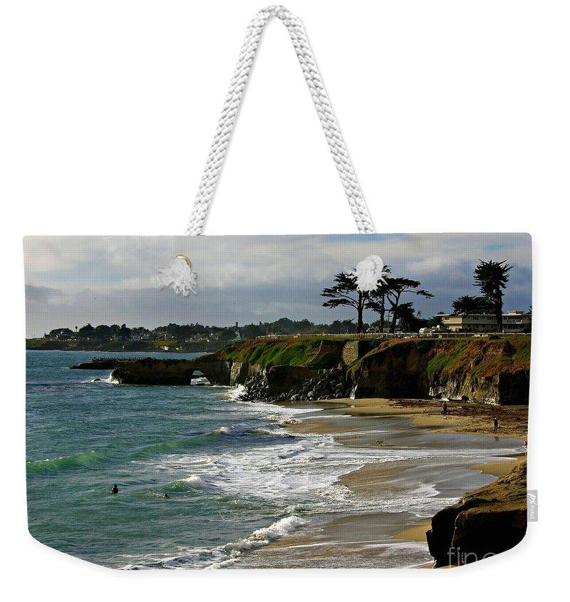 Santa Cruz Weekender Tote Bag featuring the photograph Santa Cruz Beach by Carol Groenen