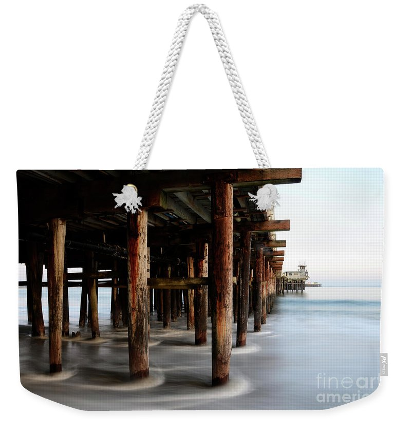Pier Weekender Tote Bag featuring the photograph Santa Cruz Pier California by Bob Christopher