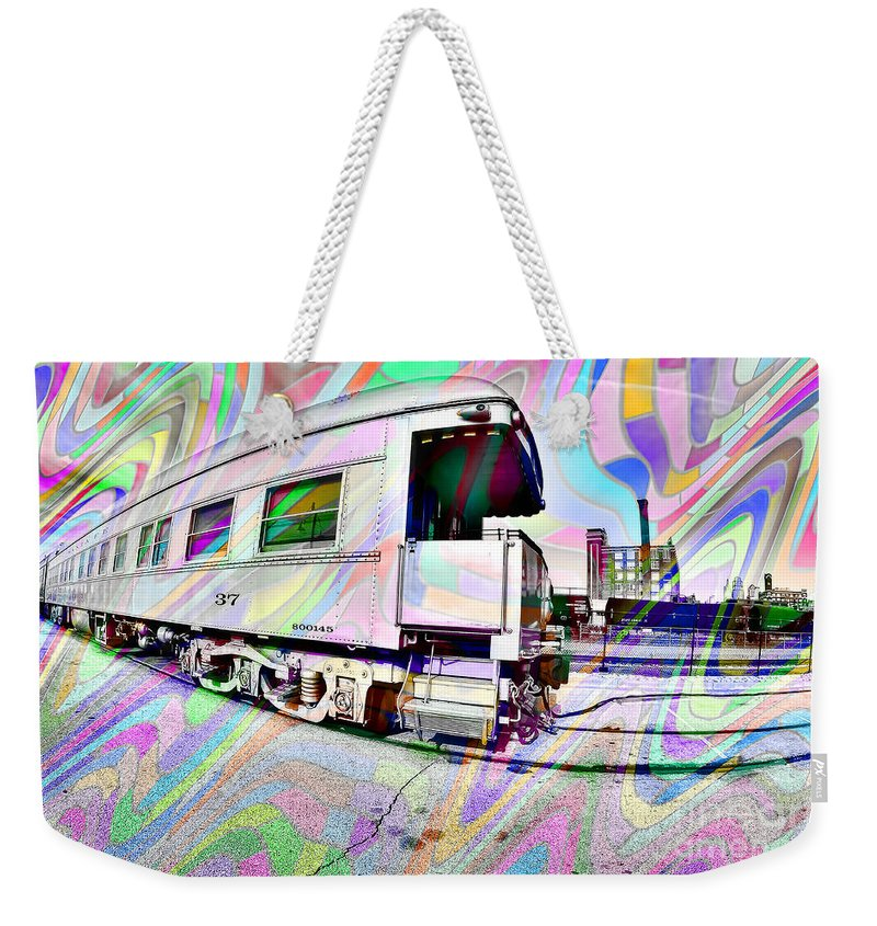 Liane Wright Weekender Tote Bag featuring the photograph Santa Fe Train Number 37 by Liane Wright