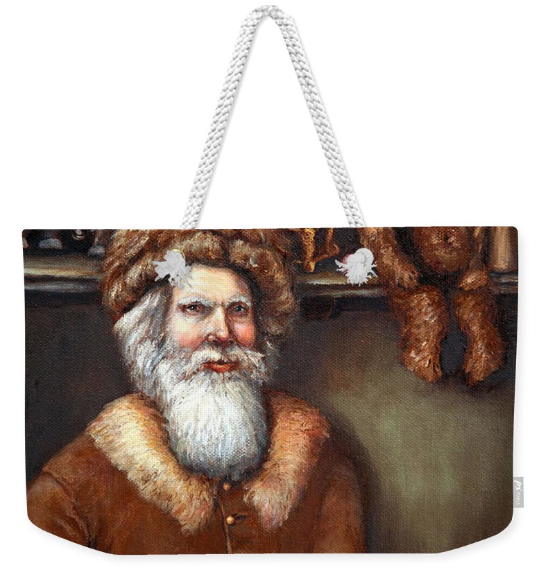 Holiday Art Weekender Tote Bag featuring the painting Santas Special Toys by Portraits By NC