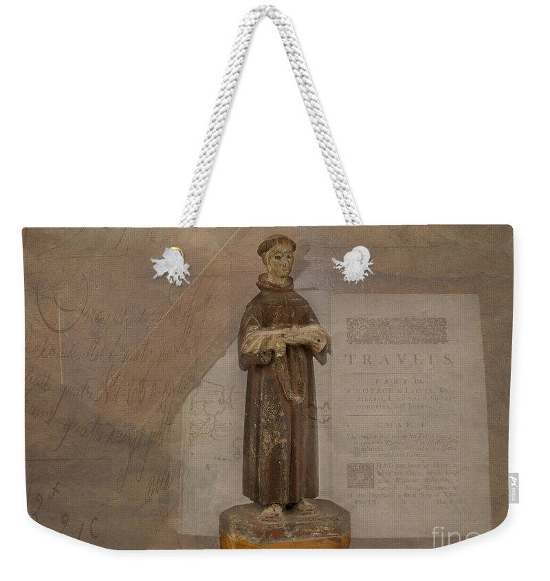 Saint Weekender Tote Bag featuring the photograph Santos by Mary Koenig Godfrey