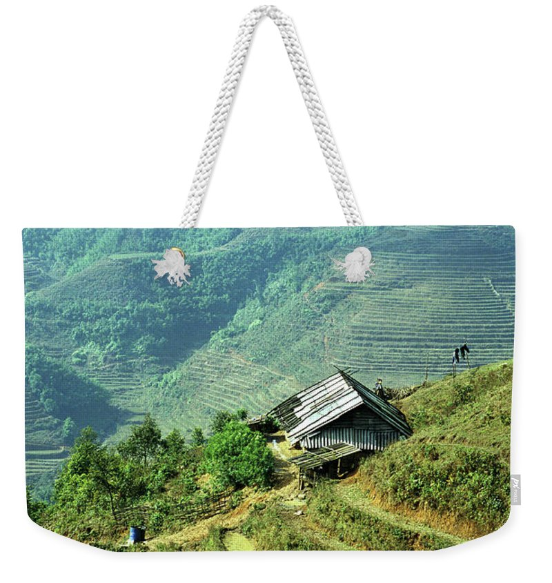 Vietnam Weekender Tote Bag featuring the photograph Sapa Rice Fields by Rick Piper Photography