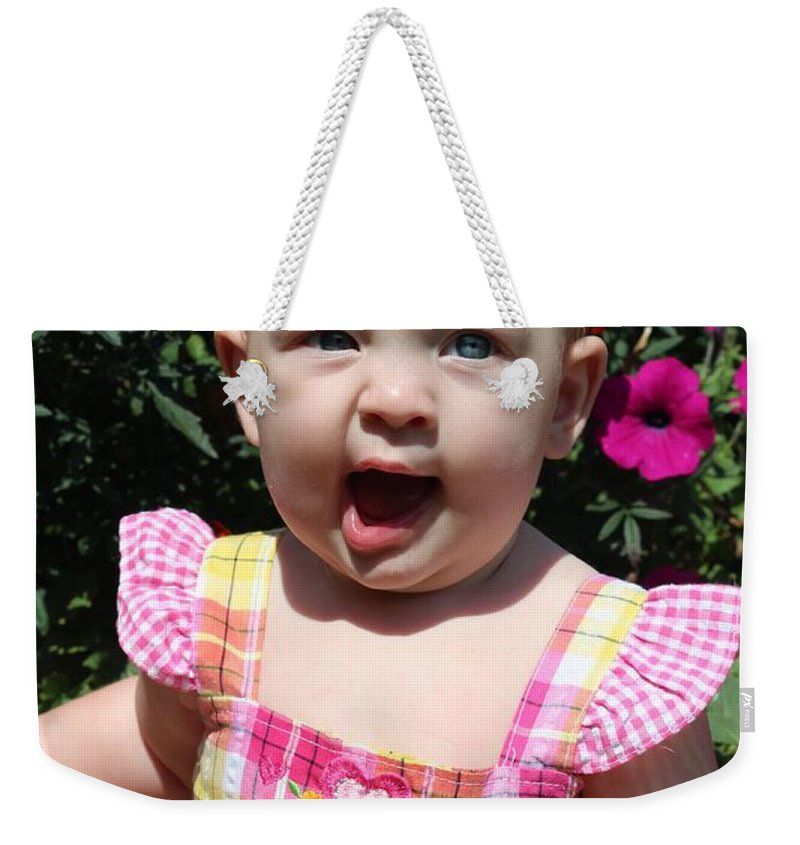 Sarah Weekender Tote Bag featuring the photograph Sara_3903 by Joseph Marquis