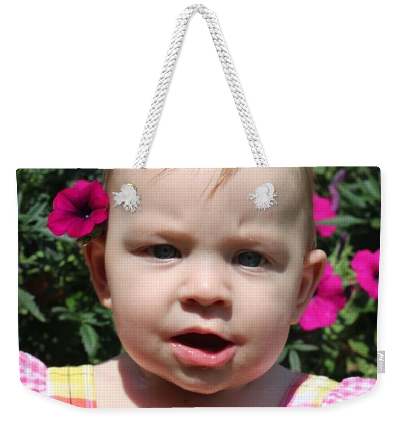 Sarah Weekender Tote Bag featuring the photograph Sarah_3927 by Joseph Marquis