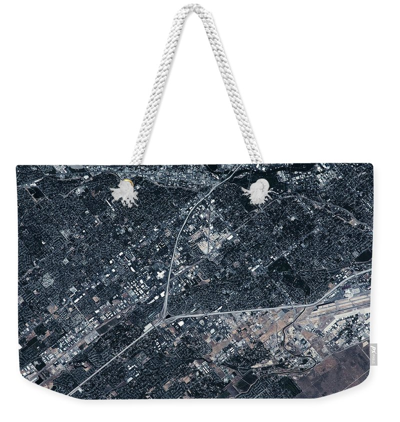 Photography Weekender Tote Bag featuring the photograph Satellite View Of Boise, Idaho, Usa by Panoramic Images