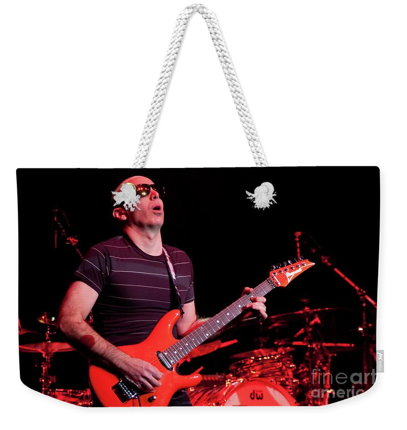 Joe Satriani Weekender Tote Bag featuring the photograph Satriani 3235 by Timothy Bischoff