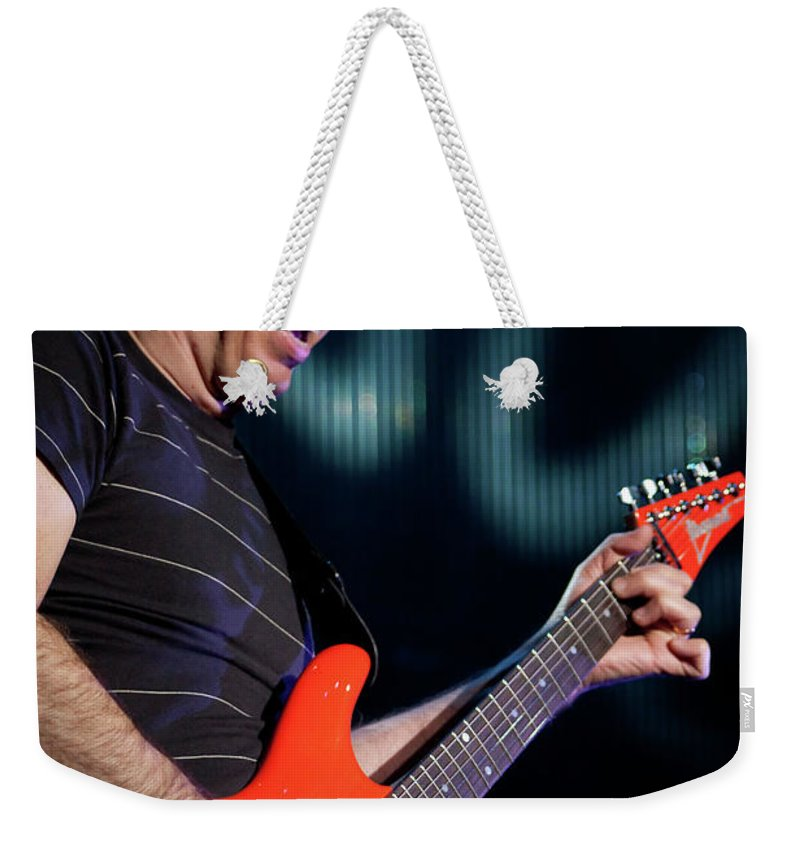 Joe Satriani Weekender Tote Bag featuring the photograph Satriani 3342 by Timothy Bischoff