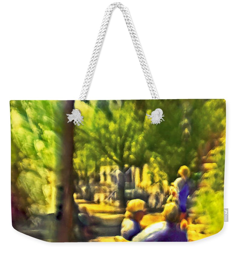People Weekender Tote Bag featuring the photograph Saturday Afternoon by Madeline Ellis