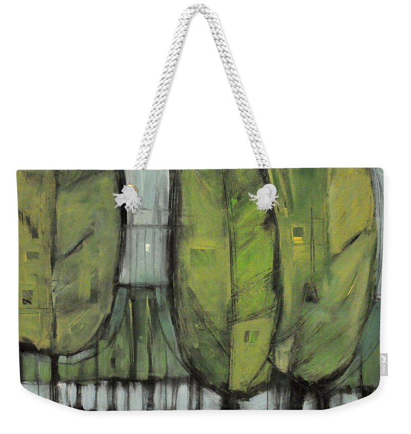 Trees Weekender Tote Bag featuring the painting Saturday In The Park I Think It Was The Fourth Of July by Tim Nyberg