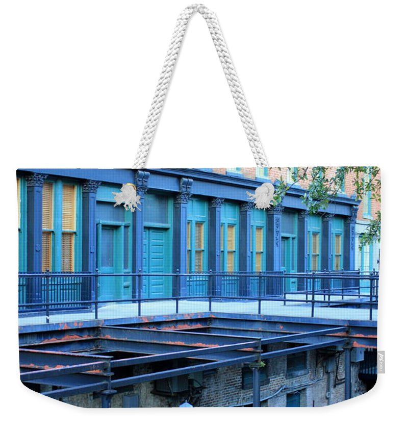 Savannah Weekender Tote Bag featuring the photograph Savannah Blues by Carol Groenen