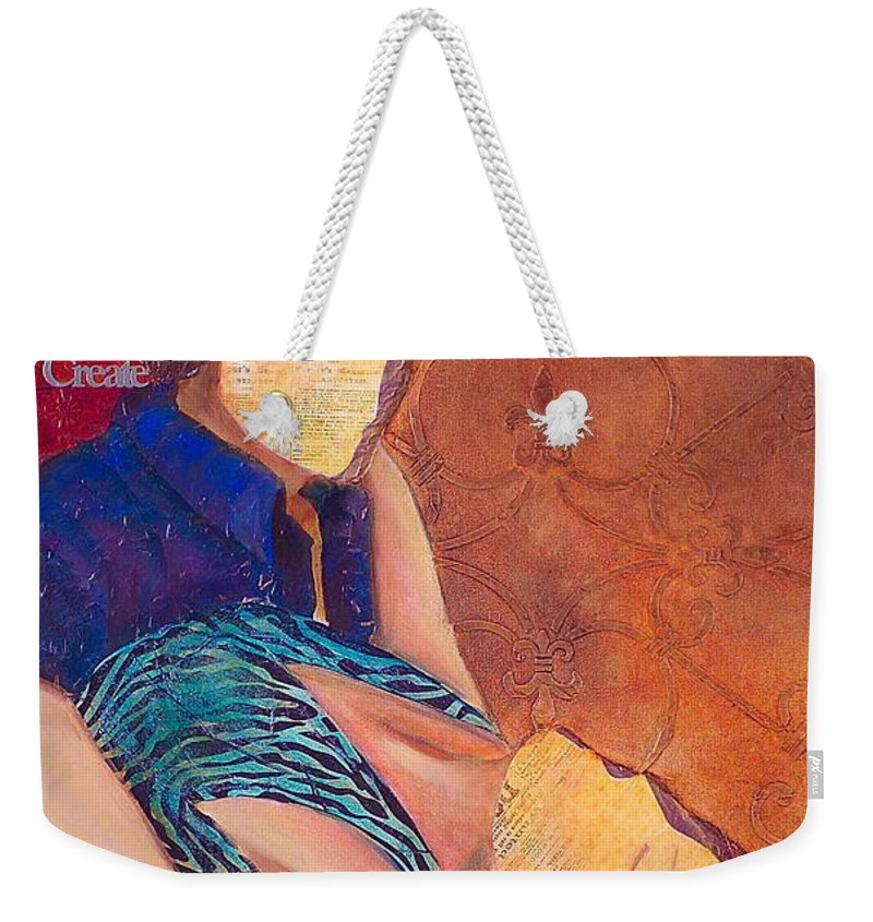 Man Weekender Tote Bag featuring the painting Save The Last Dance by Debi Starr