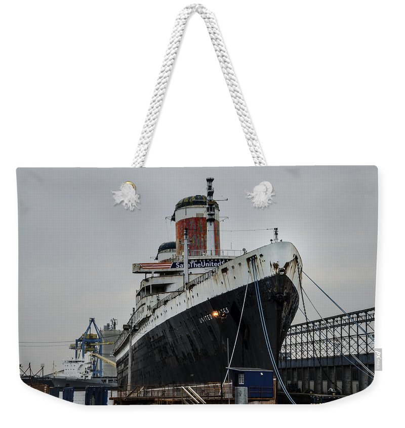 Save Weekender Tote Bag featuring the digital art Save The United States by Bill Cannon