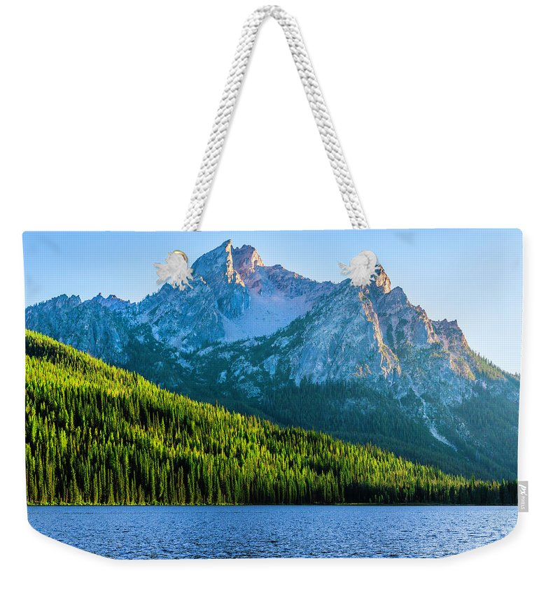 Scenics Weekender Tote Bag featuring the photograph Sawtooth Mountains And Stanley Lake by Dszc