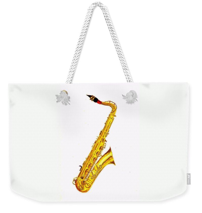 Saxophone Weekender Tote Bags