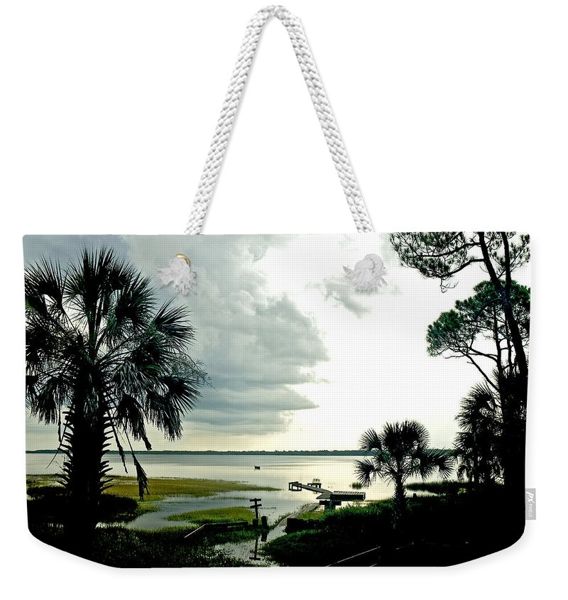 Seascape Weekender Tote Bag featuring the photograph Scallop Waters by Norman Johnson