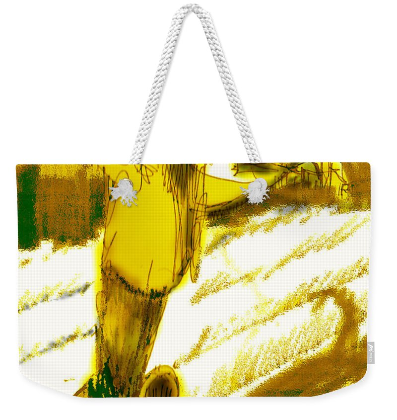 Scarecrow Babysitter Weekender Tote Bag featuring the digital art Scarecrow Babysitter by Seth Weaver