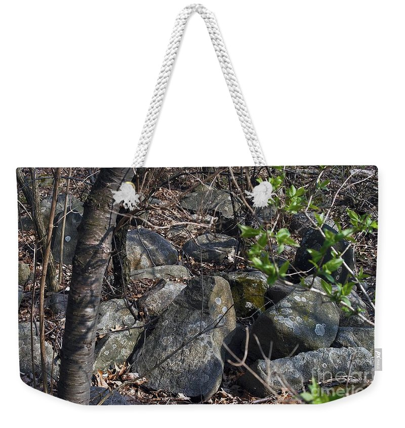 Cairn Weekender Tote Bag featuring the photograph Scattered by Joseph Yarbrough