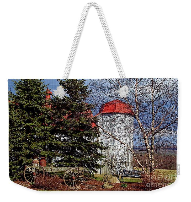 Vermont Weekender Tote Bag featuring the photograph Scene In Vermont by Deborah Benoit