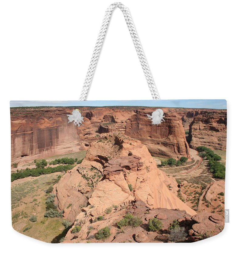 Canyon Weekender Tote Bag featuring the photograph Scenic Canyon De Chelly by Christiane Schulze Art And Photography